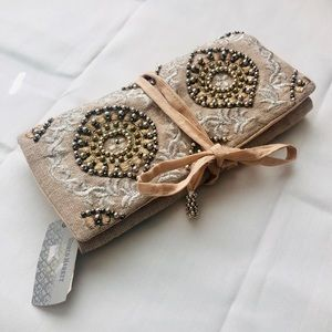 NWT World Market Beaded Jewelry Pouch